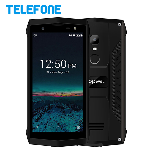 POPTEL P8 5.0 inch 2GB RAM 16GB ROM IP68 Waterproof Smartphone Android 8.1 MTK6739 Quad Core 8MP NFC 4G LTE Mobile Phone