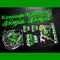 Free shipping!MOTO GP SKB Kawasaki ninja car reflective stickers racing decals motorcycle for Motobike ATV Helmet Windshield