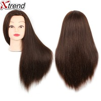 Quality Hair Mannequins Salon Hairdressing Hair Styling Training Head Mannequin 22 Inch With Holder Hairstyle Practice