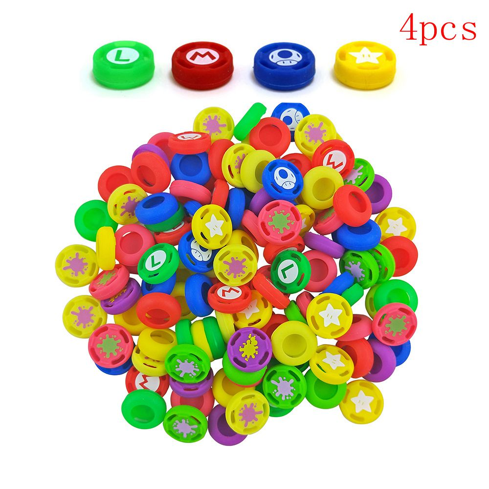 2pcs/4pcs Splatoon 2 Joystick Caps Thumb Stick Grip Button Nintend Switch NintendoSwitch NS Console Cover Cap Game Accessories