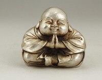 ที่สวยหรูสีขาวทองแดงฝีมือแกะสลักพระพระพุทธรูปปั้นโลหะหัตถกรร