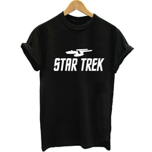 Unisex Loose Style Star Trek 2017 Summer Women Letter Print T shirt Swag Vogue Female Printed