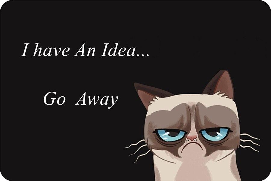 Aliexpress Com Buy Custom Grumpy Cat Rug I Have An Idea