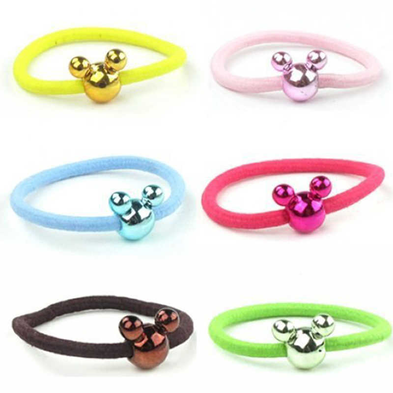 Cartoon Candy Color Rubber Bands Big Mickey Hair Ropes Super Cute Hair Ring Women Hair Ropes Korean Version Of Jewelry Wholesale