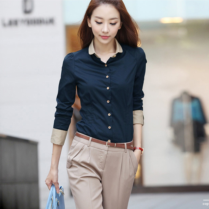 825227bc091 Casual Blouse Shirt Long Sleeve White Blusas Femininas Roupas Woman Clothes  Body Ladies Work Wear Female Office Shirt Women Tops