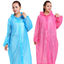 Fashion EVA Women Raincoat Thickened Waterproof Rain Coat Women Clear Transparent Camping Waterproof Rainwear Suit Drop Shipping(China)