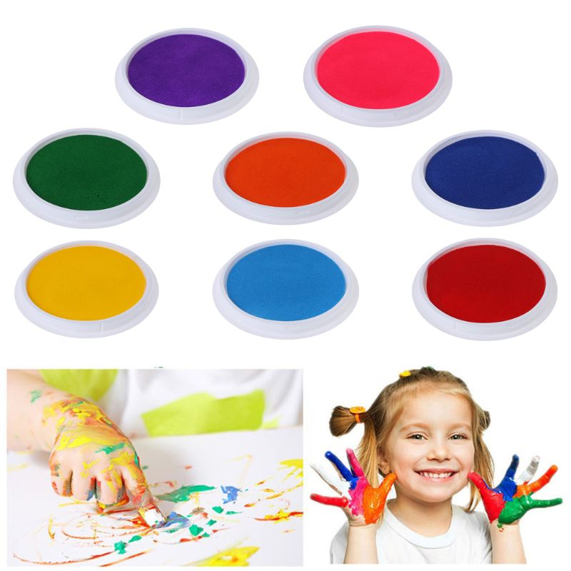 Ink Pad Baby Handprint Footprint Painting Colorful Fingerprint Kids Children Newborn Memory Gifts Collection Washable Pads
