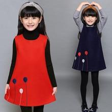New 2018 Spring Winter Girls Sleeveless Dress Teenage Girls Cotton Wool  Dress Kids Children Student Dress 615b896b624b