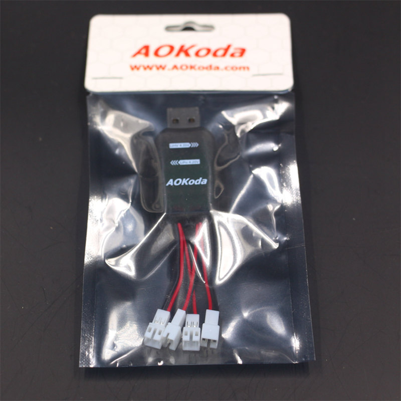 AOkoda CX405 4Ch Micro Usb Battery Charger For 1S lipo battery with JST Losi connectors available RC parts accessories