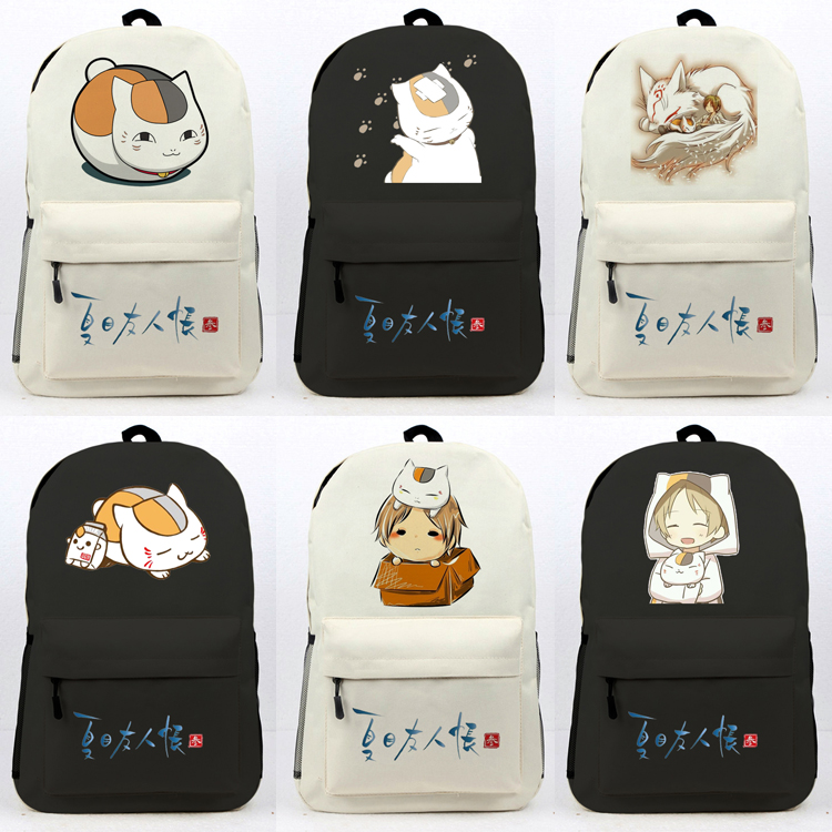 Natsume Yuujinchou Anime backpack preppy style unisex high quality large capacity cute
