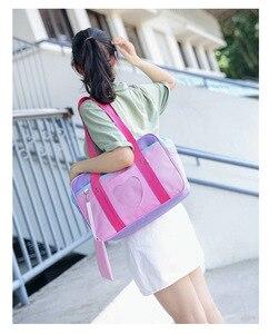 Image 5 - Bolso escolar de nailon con diseño de corazón japonés para mujer, bolso grande de hombro con diseño de uniforme para chica, 2018