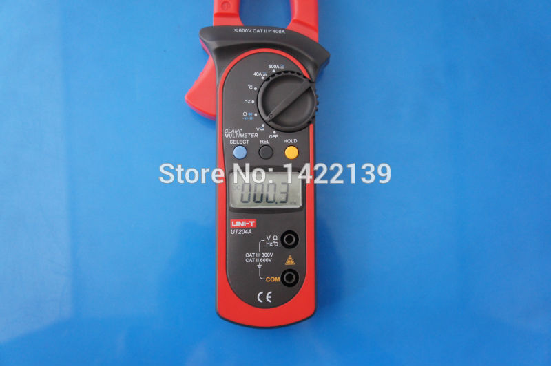 UNI-T UT204A AC/DC LCD Display Digital Clamp Meter current Multimeter DMM Voltmeter 600A Diode/Resistance/Capacity Tester  цены