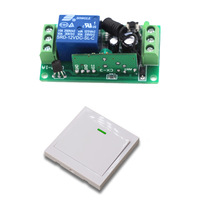 9V 12 24v Wireless Remote Control Switch 1 Ch Receiver Relay Module Wall Transmitter For Lighting