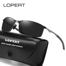 LOPERT Men's Sunglasses Brand Designer Pilot Polarized Male Sun Glasses Eyeglasses gafas oculos de sol masculino For Men UV400 цена
