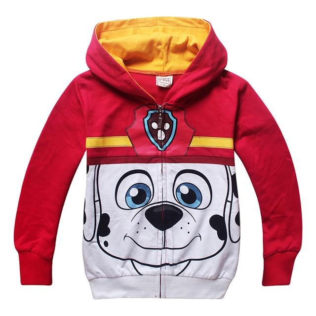 2017 Fashion Cartoon Pug Dog Baby Boys Girls Jackets High Quality Long Sleeve Kids Coats Sweatshirt Children Hooded Top Clothes