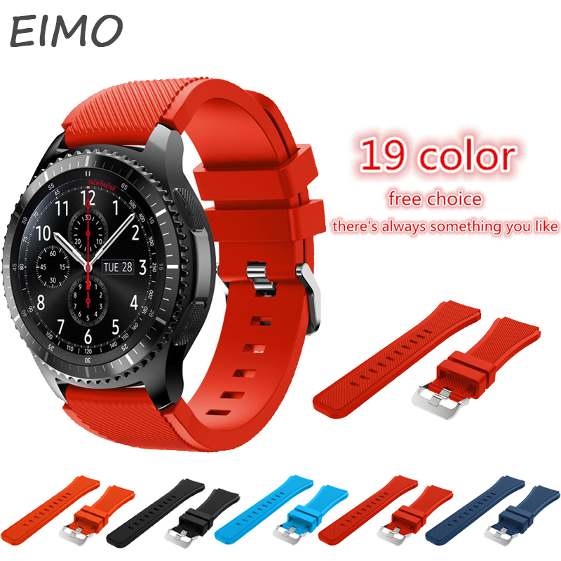 Sports Silicone strap band for Samsung Gear S3 Frontier/Classic smart watch wrist bracelet & 22mm replacement watch band 22mm sports silicone strap for samsung gear s3 frontier band for gear s3 classic rubber watchband replacement wristband