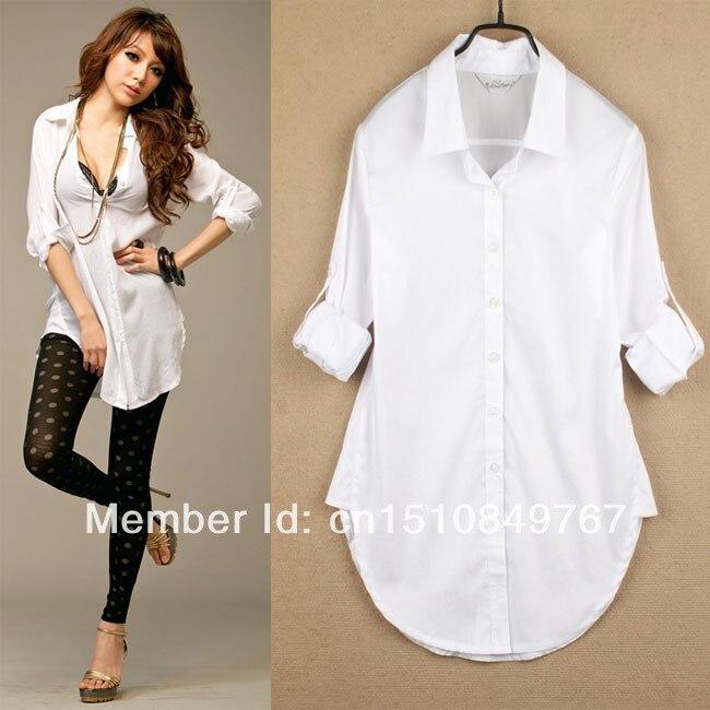 62ddf7f81fe Sexy Classic Womens Boyfriend Wind White Shirt Loose Long Sleeve Tops  Blouses en Blusas y camisas de Ropa de mujer en AliExpress.com | Alibaba  Group