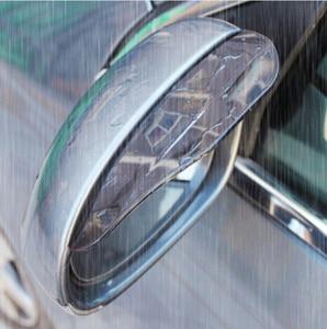 2pcs PVC Car Back Mirror Eyebrow Rain Cover sticker For Daewoo Matiz Nexia Nubira Sens Tosca Winstorm AUTO accessories(China)