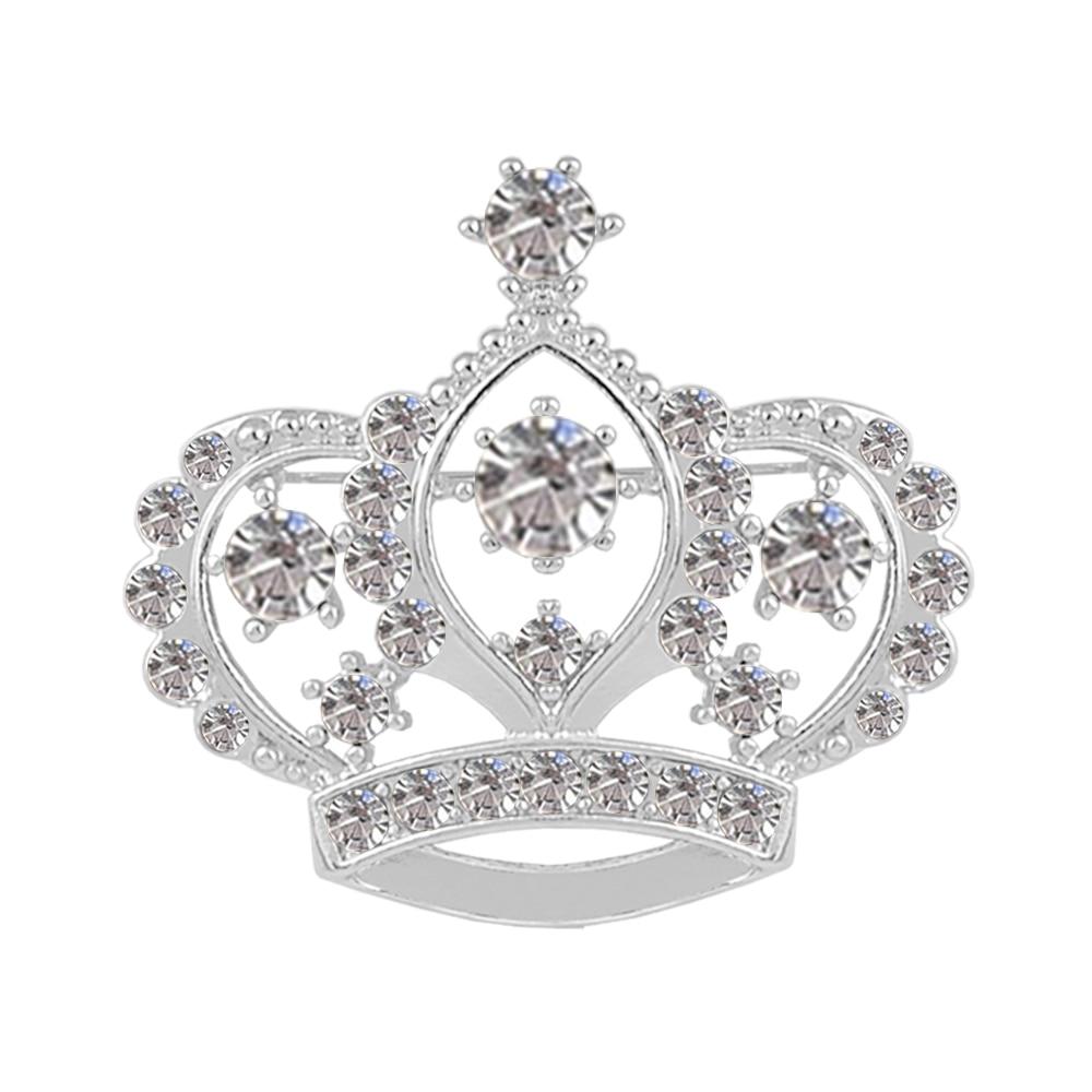 Weibliche Kronenbrosche Simulierte kristallweiße - Modeschmuck - Foto 6