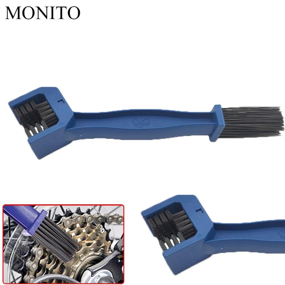 Motorcycle Chain Maintenance Cleaning Brush Cycle Cleaner Tool For KAWASAKI KX65 KX85 KX125 KX250 KX250F KX450F KX100 Blue/RED