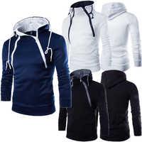 Herbst Winter Hoodie Männlichen Pullor 2017 Marke Reißverschluss Sweatshirt Männer Hoodies Qualität Baumwollmischung Hoody Herren Mit Kapuze