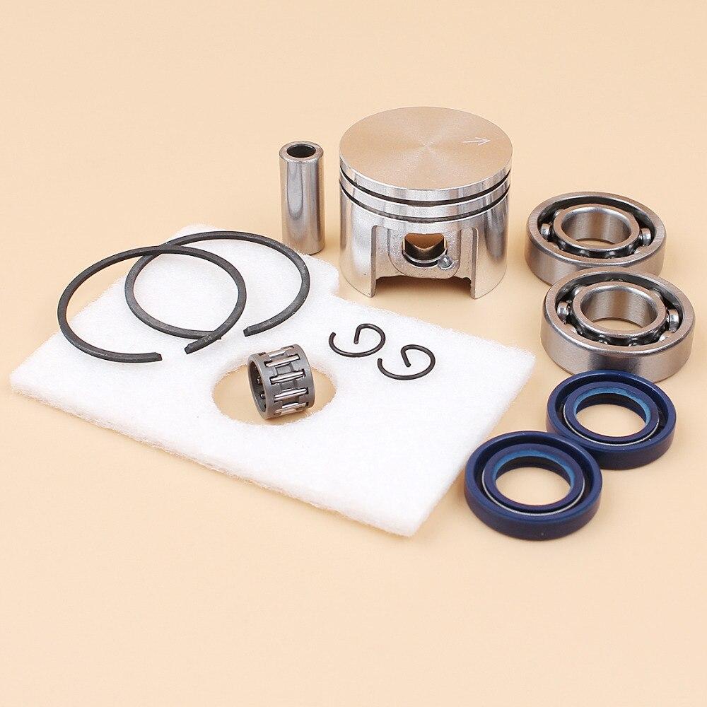 Pistão do motor virabrequim óleo rolamento kit filtro de ar para stihl ms180 ms 180 018 motosserra peças reposição 38mm
