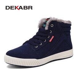 DEKABR Men Boots Non-slip Waterproof Winter Ankle Snow Boots Men Platform Men Winter Shoes With Thick Fur Botas Hombre 39~48