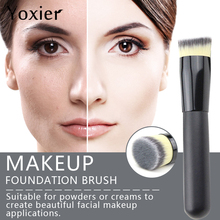 Yoxier foundation brush flat top buffing Brushes high quality makeup brushes Loose Make up Brushes Flat Cream Tools high quality side brushes