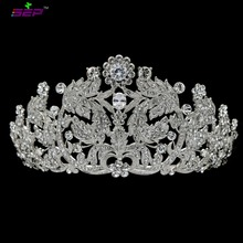 Real Austrian Crystals Wedding Bridal Tiara Crown Diadem  For Girl Prom Pageant Hair Jewelry JHA8318