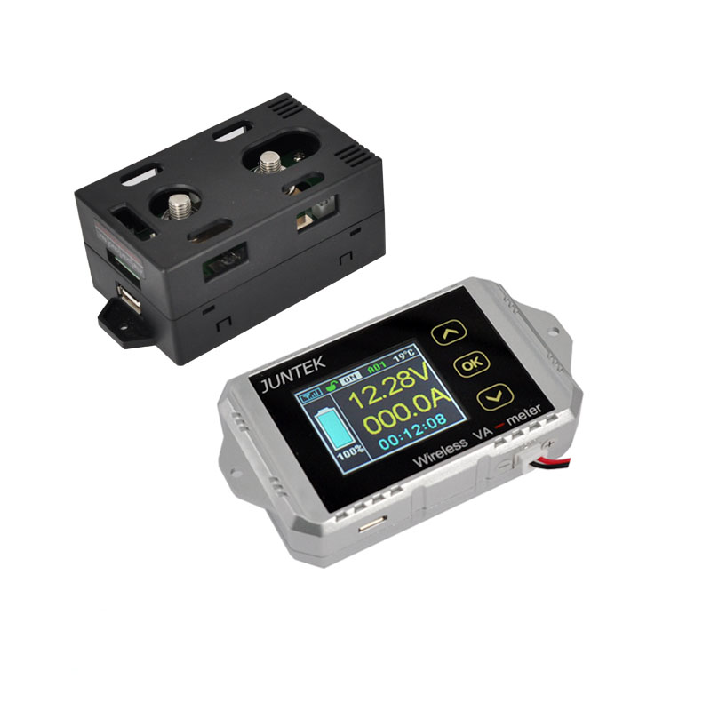 DC100V200A Mobile wireless bidirectional test voltage ammeter Battery capacity Voltage current power Wh Electricity coulometer multifunction wireless color lcd voltage current meter capacity electricity meter coulometer 0 120v 200a