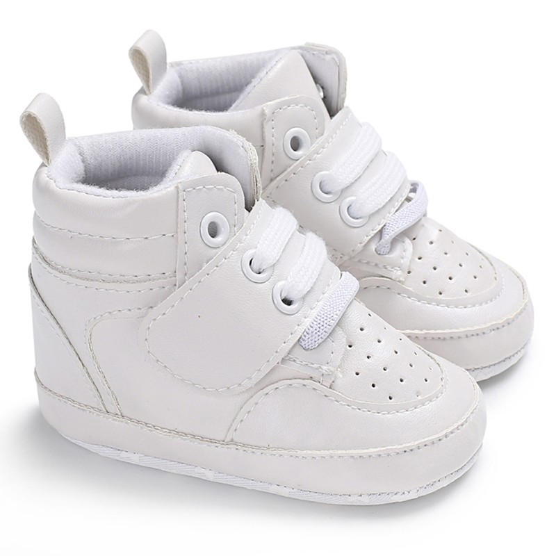 Baby Boys Shoes Sneaker Sport Shoes For Girls Solid Newborn Baby Shoes Soft Soled Moccasins PU Baby Girl Shoes