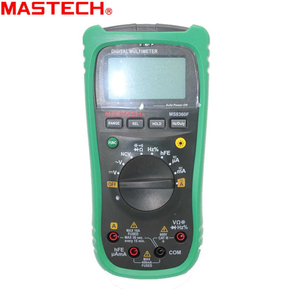 MASTECH MS8360F Auto Range Digital Multimeter DMM Frequency Capacitor NCV hFE tester comprobadores multimetros(upgraded MS8260F) ms8226 handheld rs232 auto range lcd digital multimeter dmm capacitance frequency temperature tester meters