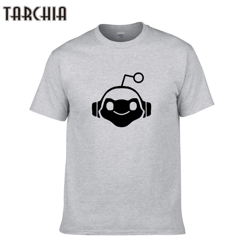 TARCHIA Tshirt Men Robot Print 2018 Summer Casual Tops Design Hip Hop Short Sleeve Cool Tees Shirt Homme T Shirt Men Clothing