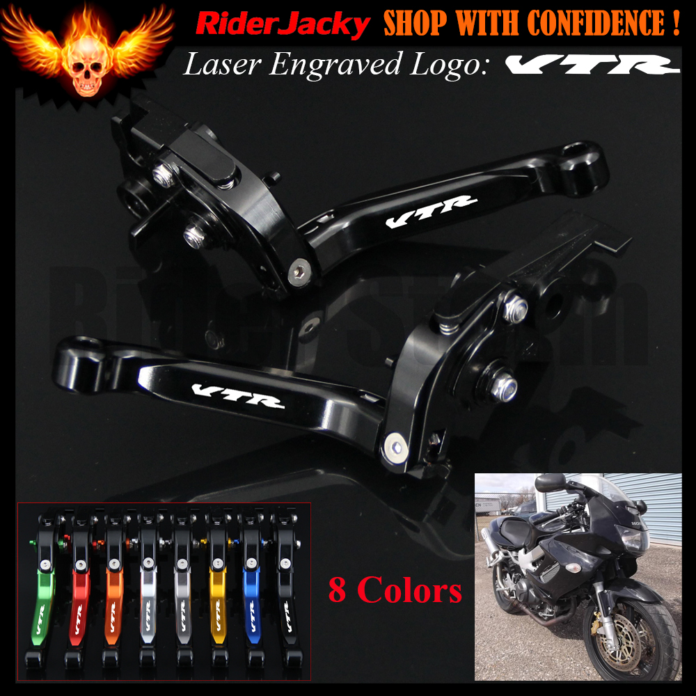 Full Black CNC For Honda VTR1000F / FIRESTORM 1998-2005 1999 2000 2001 2002 2003 2004 Motorcycle Brake Clutch Lever (Logo VTR hot sales for honda vtr1000f 97 05 1997 1999 2000 2001 2002 2003 2004 2005 vtr1000 f vtr 1000 f 1000f full red fairings