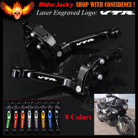 Full Black CNC For Honda VTR1000F / FIRESTORM 1998 2005 1999 2000 2001 2002 2003 2004 Motorcycle Brake Clutch Lever (Logo VTR