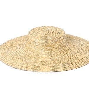 Image 5 - Шляпа женская летняя большая с широкими полями 15 см