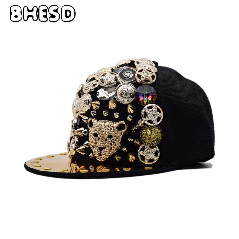 BHESD 2018 New Men Hip Hop Snapback Hat  Women Punk Style Hip-Hop Caps Male Street Fashion Flat Baseball Cap Gorros Bones JY701 new hot sales mens jeans slim straight high quality jeans men pants hip hop biker punk rap jeans men spring skinny pants men