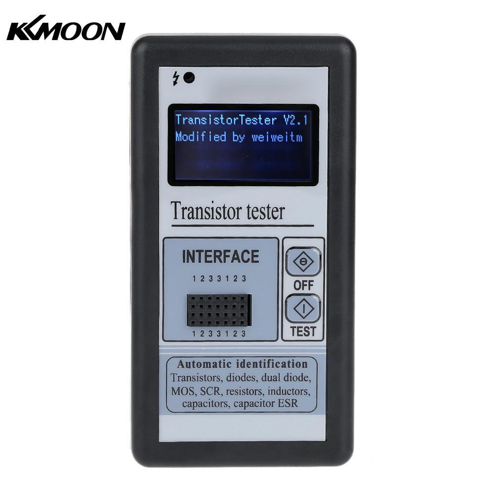 LCD Backlight Transistor Tester Diode Thyristor Capacitance ESR LCR Meter with Grey Plastic Case