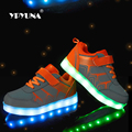 Tamanho 25-37 carregamento usb led crianças shoes crianças com light up luminous glowing shoes for boys & tênis meninas