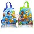 Novedad 24 unids Bubble Guppies Cartoon Niños Mochilas Cordón 34*27 cm Kids Regalo de La Escuela Bolsos de Fiesta