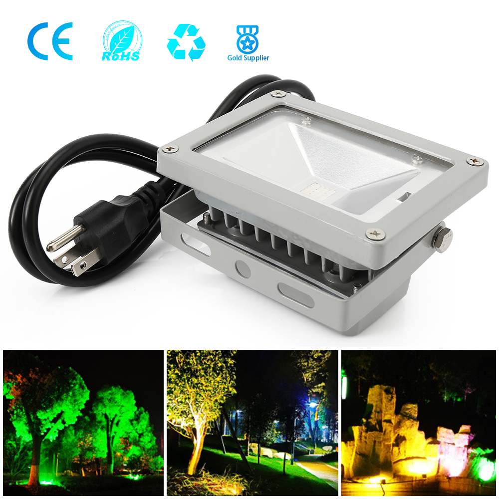 Image 5 - 10W LED Flood Light Cold/Warm/Red/Green/Blue/RGB Reflector Spotlight Outdoor Wall Lamp Projectors-in Floodlights from Lights & Lighting