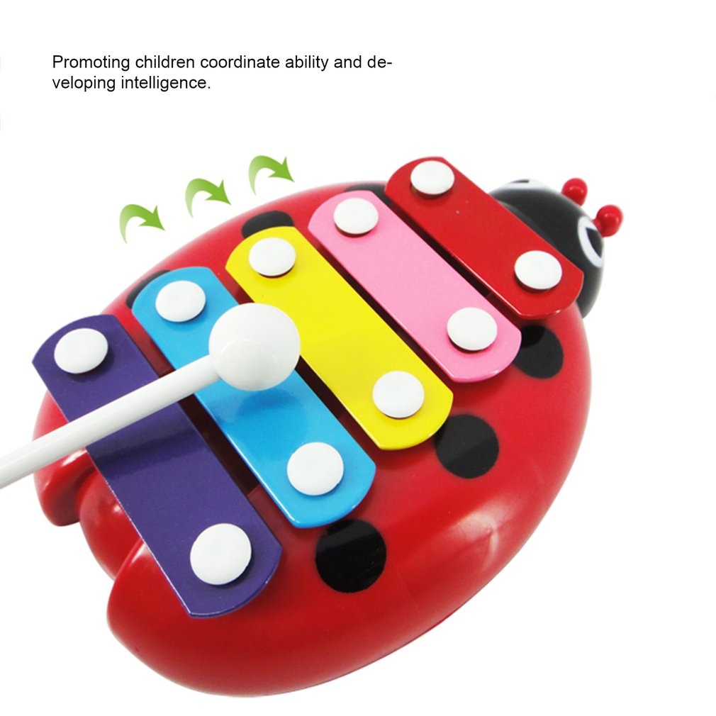 5-Note Xylophone Musical Baby Kids Girls Boys Development Toys Simple Perfect