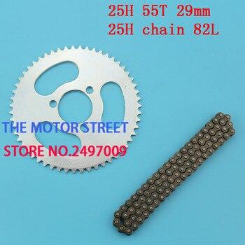 Envío gratuito 29mm 54 diente 82 piñón trasero cadena enlaces ajuste bolsillo Mini Moto Cross Bike ATV Quad Go kart