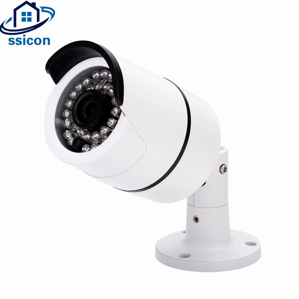 SSICON H.264 Waterproof Mini Bullet 1080P AHD Camera Outdoor 4mm Lens Home Security CCTV Camera 1080P With OSD Menu ahd camera 1080p cctv dome camera 2 8 12mm lens cmos vandalproof security camera with osd menu star light