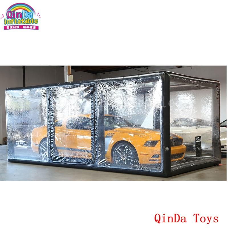 5.5m*2.6m*2.3m car capsule dust proof tent ,transparent showcase inflatable car shelter for sale hot selling airtight inflatable hail proof cover inflatable showcase inflatable tent for car