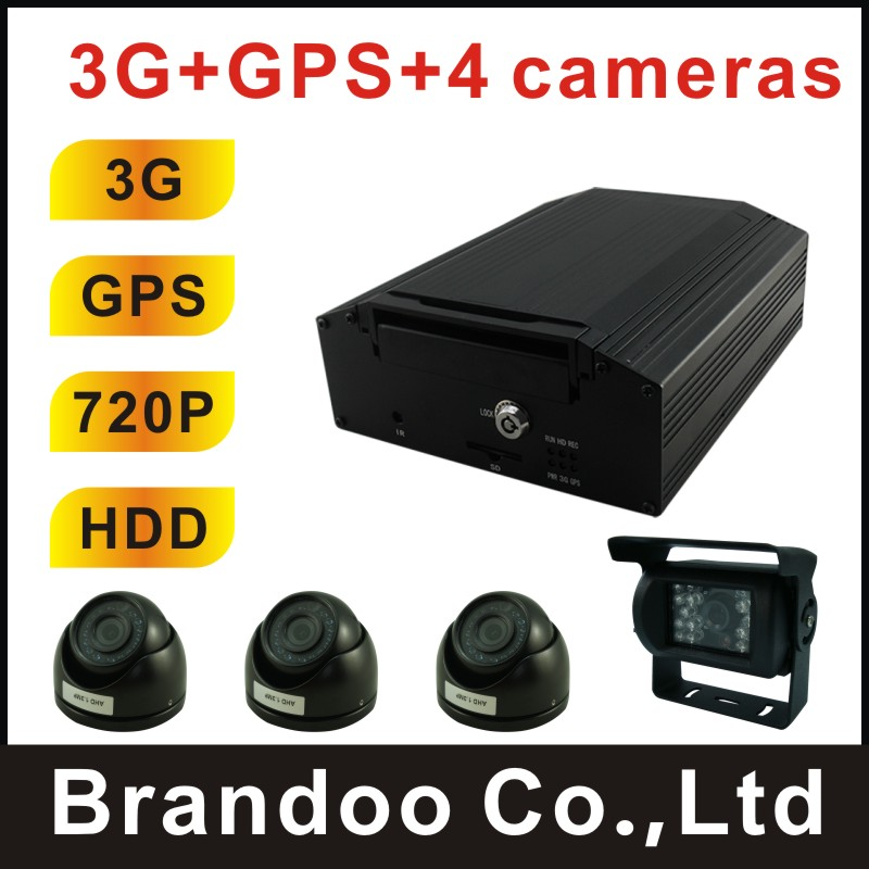 Complete 3G bus DVR system,3G and GPS for live view and real time tracking, used for bus,ship,police car,urban bus,trian