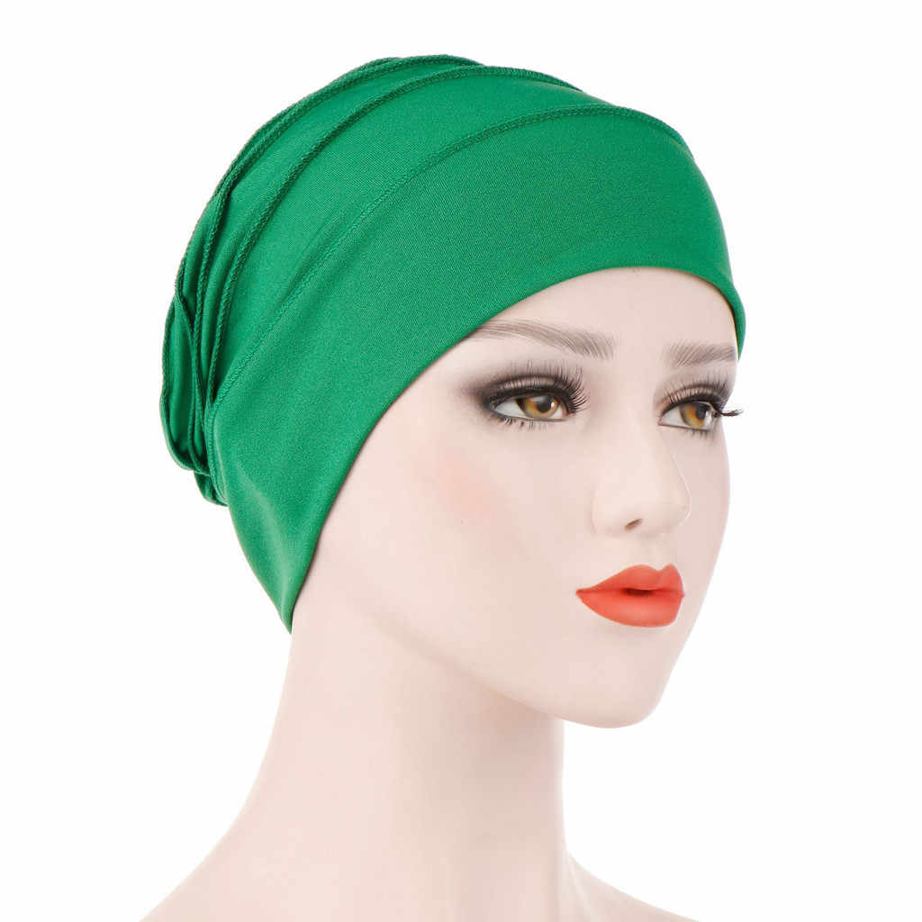731d56a718812 ... 2019 Fashion Hat Women India Hat Muslim Ruffle Cancer Chemo Hat Beanie  Scarf Turban Head Wrap ...