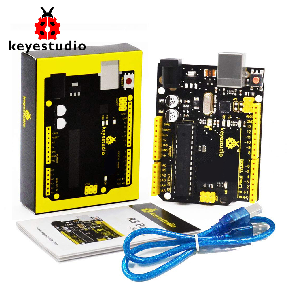 Keyestudio UNO R3 ATmega328P Development Board +USB Cable Compatible With Arduino UNO R3