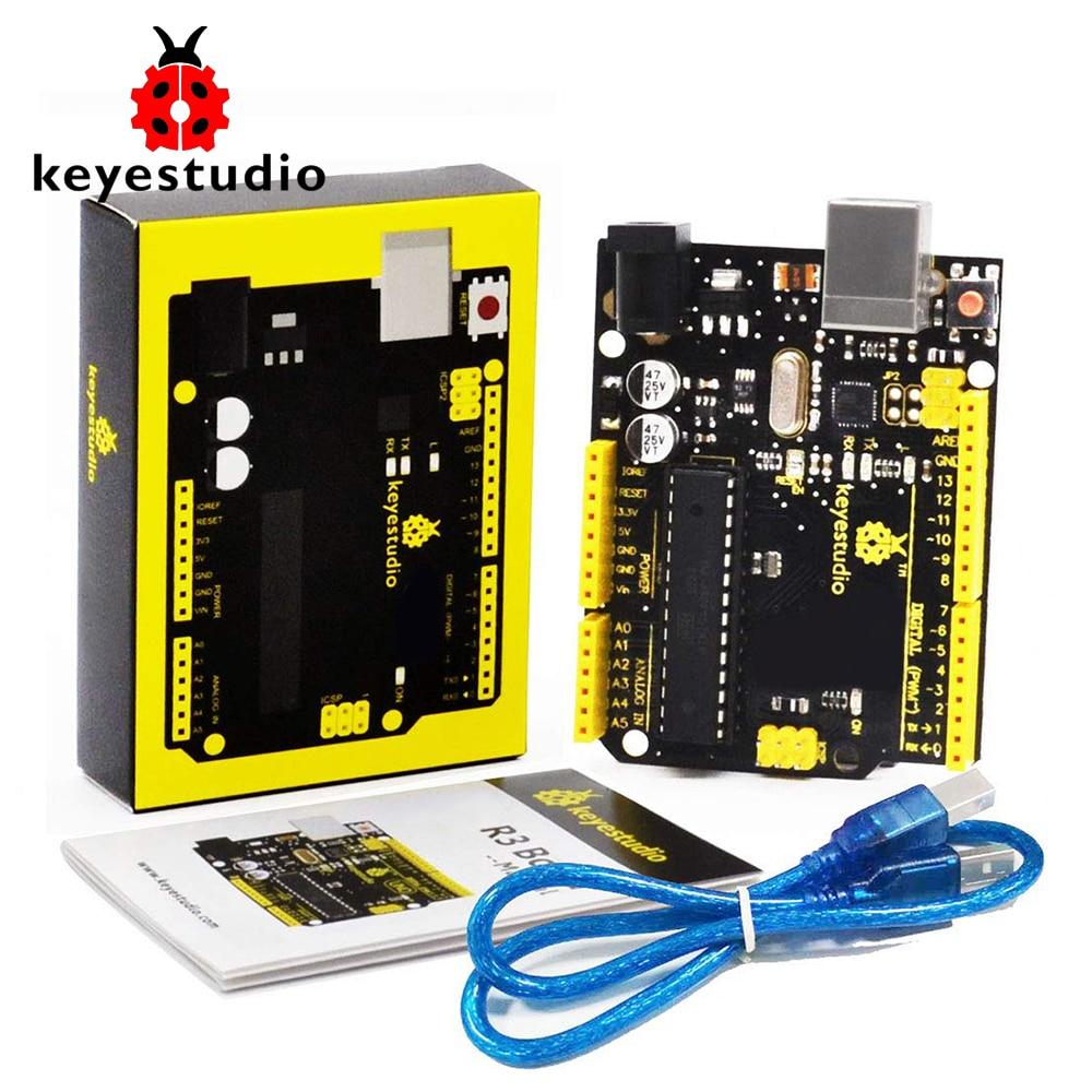 Keyestudio UNO R3 ATmega328P Development Board +USB Cable Compatible With Arduino UNO R3
