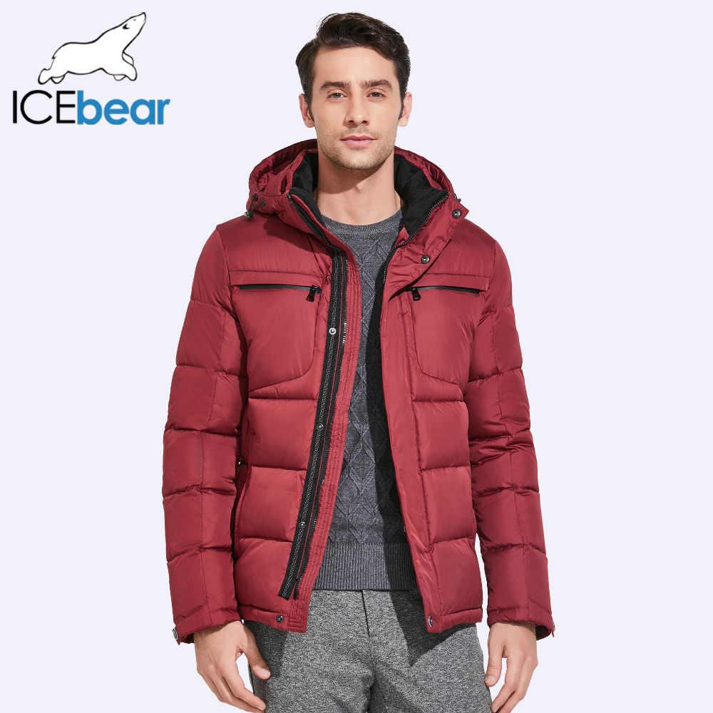 ICEbear 2019 メンズ冬のジャケット胸絶妙なポケットシンプルな裾実用的な防水ジッパー高品質パーカー 17MD940D